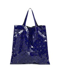 Bao Bao Issey Miyake - Blue Prism Gloss Faux Leather Tote - Lyst