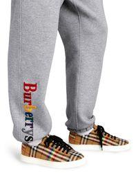 Burberry Gray Rainbow Logo Sweatpants for men