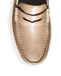 Cole Haan - Brown Pinch Weekender Leather Penny Loafers for Men - Lyst