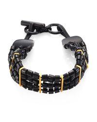 Nest - Black Horn & Leather Choker - Lyst