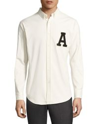 AMI - White Regular-fit Patch Work Shirt for Men - Lyst