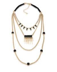 ABS By Allen Schwartz - Metallic Rock It Out Four-row Necklace - Lyst