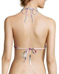 Heidi Klein Multicolor Koh Samui Triangle Bikini Top