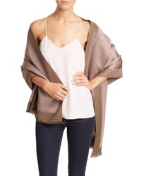 Bajra - Natural Frame Silk & Cashmere Scarf - Lyst