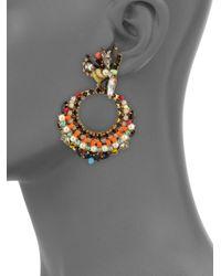 Erickson Beamon - Metallic Safari Faux Pearl & Crystal Cluster Earrings - Lyst