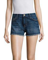 Current/Elliott - Blue Cut-off Denim Shorts - Lyst
