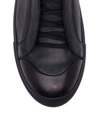 Alexander McQueen Red High-top Calf Leather Sneakers for men