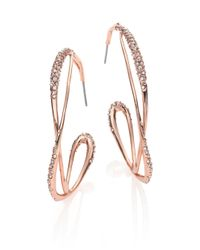 Alexis Bittar | Pink Miss Havisham Crystal Orbit Hoop Earrings/2.35 | Lyst