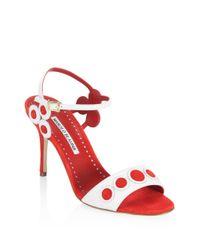 Manolo Blahnik - Red Kakangapla High Heel Sandals - Lyst