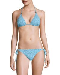 Melissa Odabash - Blue Cancun Triangle Bikini Top - Lyst