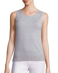 Saks Fifth Avenue - Gray Lightweight Cashmere Shell - Lyst