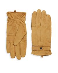 Barbour Black Leather Thinsulate Gloves for men