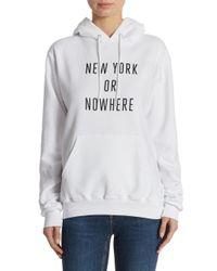 Knowlita White New York Or Nowhere Hooded Sweatshirt