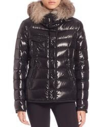 Moncler Black Armoise Fur-trimmed Puffer Jacket