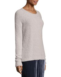 Peserico - Gray Boucle Roundneck Sweater - Lyst