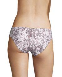 Heidi Klein Purple High-rise Seamed Bikini Bottom