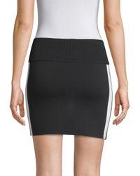 Zoe Jordan - Black Bates Wool & Cashmere Side Stripe Mini Skirt - Lyst