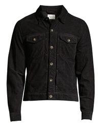 Rag & Bone Black Definitive Cropped Denim Jacket for men