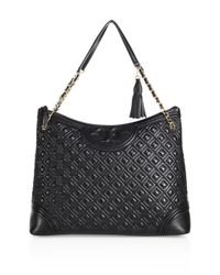 Tory Burch - Black Fleming Quilted Leather Tote - Lyst