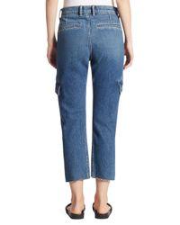 Vince - Blue Drop Slouch Cargo Pants - Lyst