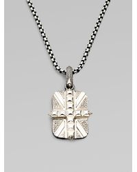 Stephen Webster - Metallic Cross Union Jack Necklace for Men - Lyst