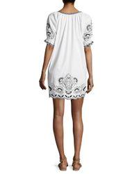 Parker White Tristan Floral-print Dress