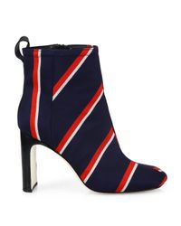 Rag & Bone - Blue Ellis Striped Wool Ankle Boots - Lyst