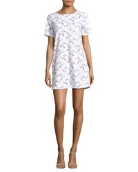 Current/Elliott White The Frayed Edge Shift Dress