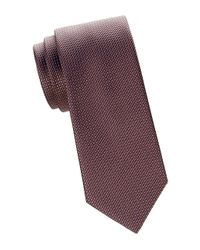 Brioni Brown Grid Jacquard Silk Tie for men