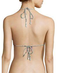 Zimmermann White Jasper Mismatched Crochet Frill Bikini Top
