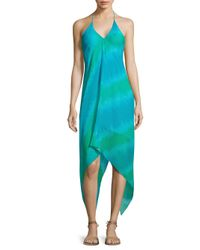 Ramy Brook Blue Stripe Printed Nadia Dress