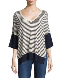 Weekend by Maxmara - Black Coccole Striped Sweater - Lyst