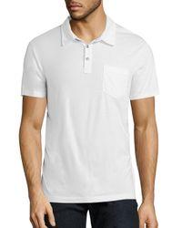 Splendid Mills - White Cotton Polo Shirt for Men - Lyst
