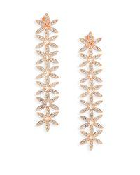 Adriana Orsini - Metallic Anise Rose Gold-plated Linear Drop Earrings - Lyst