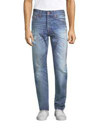 True Religion - Blue Logan Slim Jeans for Men - Lyst