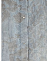 Elie Tahari Blue Clark Button-front Blouse