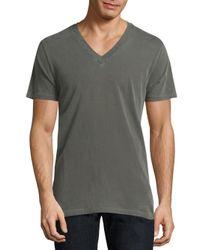Splendid Mills - Green Cotton V-neck Tee for Men - Lyst