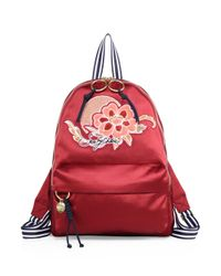 See By Chloé Andy Satin Embroidered Backpack