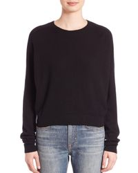 Vince - Black Solid Ribbed Sweater - Lyst