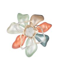 Alexis Bittar - Multicolor Roxbury Muse Abstract Colorblock Flower Pin - Lyst