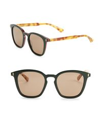 Gucci - Green 49mm Square Sunglasses for Men - Lyst