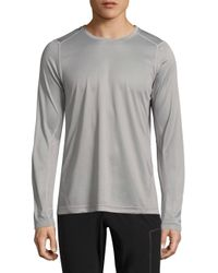 J.Lindeberg   Gray Active Long Sleeve Tee for Men   Lyst