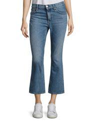 IRO - Blue Freya Cropped Flared Jeans - Lyst