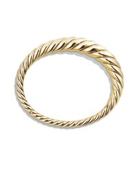 David Yurman - Metallic Pure Form Cable Bracelet In 18k Yellow Gold - Lyst