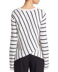 A.L.C. - White Rita Stripe Knit - Lyst