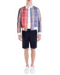 Thom Browne Blue Full-zip Storm Flap Wool Jacket for men