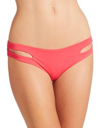 L*Space - Red Estella Bikini Bottom - Lyst