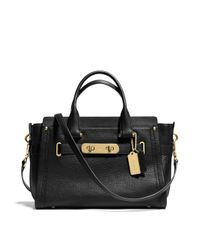 COACH Black Swagger Leather Satchel