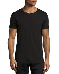 Tomas Maier - Black Cotton Tee for Men - Lyst
