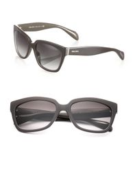 Prada | Brown Chunky 56mm Square Sunglasses | Lyst
